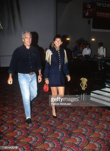Jeffrey Epstein and Ghislaine Maxwell attend Batman Forever/R. McDonald Event on June 13, 1995 in New York City.