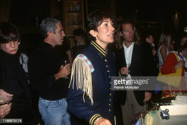 Jeffrey Epstein and Ghislaine Maxwell attend Batman Forever/R McDonald Event on June 13 1995 in New York City