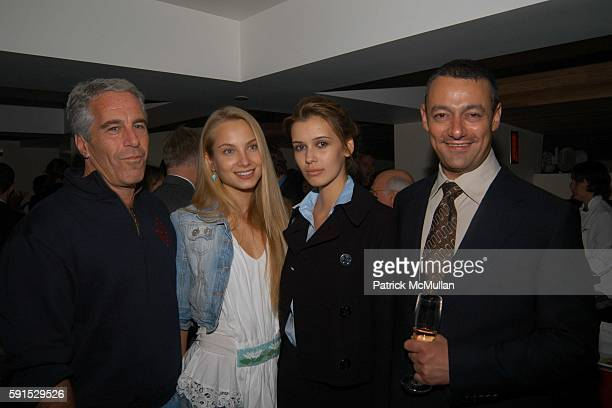Jeffrey Epstein Tatiana Adriana and Maer Roshan attend Launch of RADAR MAGAZINE at Hotel QT on May 18 2005