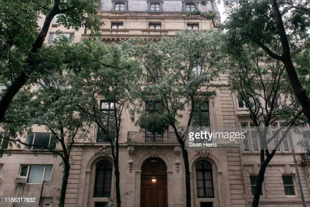 Jeffrey Epstein's residence at 9 East 71st Street in the Manhattan borough of New York on July 18 2019 in New York City Epstein has pleaded not...