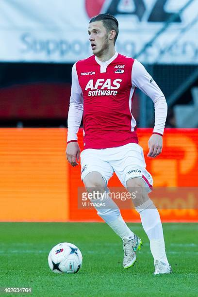 Jeffrey Gouweleeuw of AZ during the Dutch Eredivisie match between AZ and Heracles Almelo at the AFAS stadium on february 1 2015 in Alkmaar the...