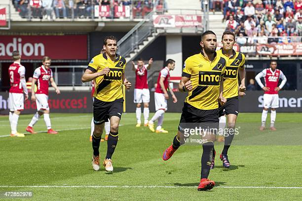 Jeffrey Gouweleeuw of AZ, Mattias Johansson of AZ, Menno Koch of NAC Breda, Wesley Hoedt of AZ, Celso Ortiz of AZ, Adnane Tighadouini of NAC Breda,...