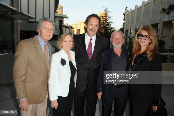 Jeffrey Hayden actress Eva Marie Saint CFC executive director Slawko Klymkiw director Norman Jewison and Lynn St David attend A Tribute to Norman...