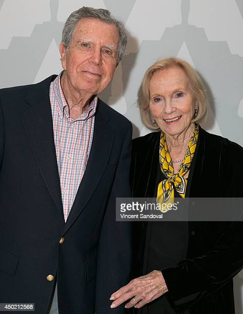 Jeffrey Hayden and actress Eva Marie Saint attend The Academy Presents 60th Anniversary screening On The Waterfront at Bing Theatre At LACMA on June...