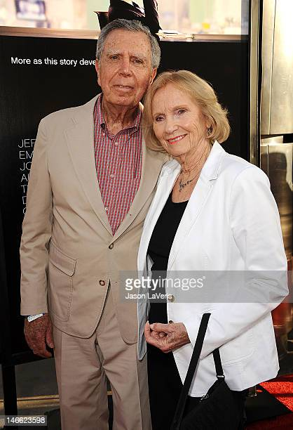 Jeffrey Hayden and Eva Marie Saint attend the premiere of HBO's Newsroom at ArcLight Cinemas Cinerama Dome on June 20 2012 in Hollywood California