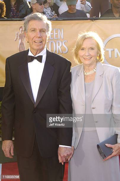 Jeffrey Hayden and wife Eve Marie Saint during 2005 Screen Actors Guild Awards Arrivals at The Shrine in Los Angeles California United States