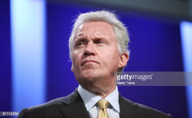 Jeffrey Immelt Chairman and CEO of General Electric appears on a panel at the Clinton Global Initiative on September 24 2009 in New York City The...