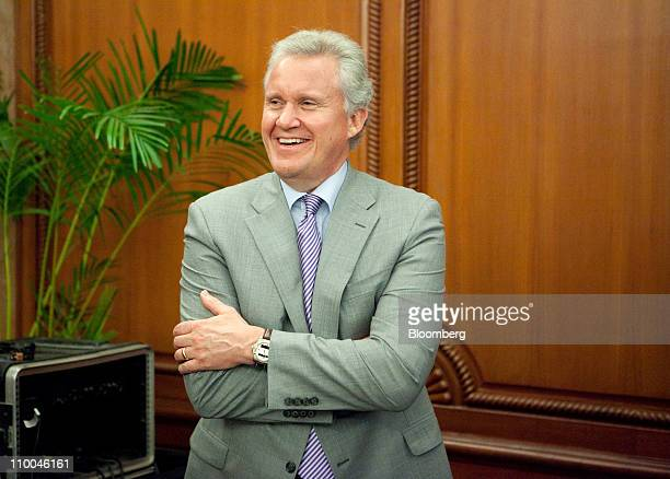 Jeffrey Immelt chairman and chief executive officer of General Electric Co attends a news conference in New Delhi India on Monday March 14 2011...
