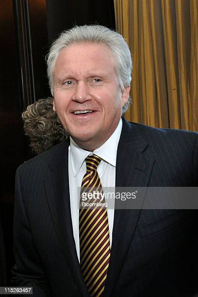 Jeffrey Immelt chief executive officer of General Electric Co stands for a photograph at the Simon Wiesenthal Center Gala in New York US on Monday...