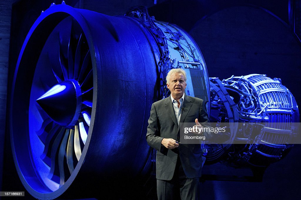 Jeffrey ' Jeff' Immelt, chairman and chief executive officer of General Electric Co. (GE), speaks during a keynote address at the Minds + Machines 2012: Unleashing the Industrial Internet conference in San Francisco, California, U.S., on Thursday, Nov. 29, 2012. Thought leaders from across business, technology and academia will gather at the Minds + Machines 2012 conference to discuss the power of the Industrial Internet and why it matters. Photographer: David Paul Morris/Bloomberg via Getty Images