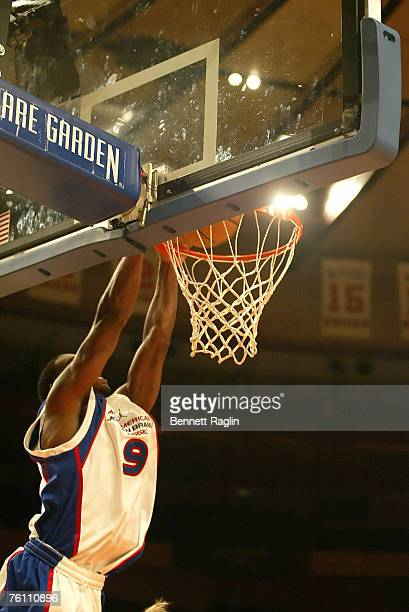 Jeffrey Jordan Goes In For A Dunk During The 2007 Brand AllAmerican Classic Game Yellow