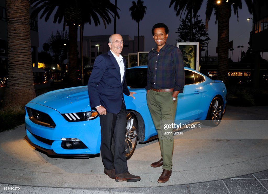 Jeffrey Katzenberg and Tendo Nagenda, Disney's executive vice president of production attend MPTF's NextGen Summer Party presented by Ford Motor Company and hosted by Jeffrey Katzenberg at NeueHouse Los Angeles on August 17, 2017 in Hollywood, California.