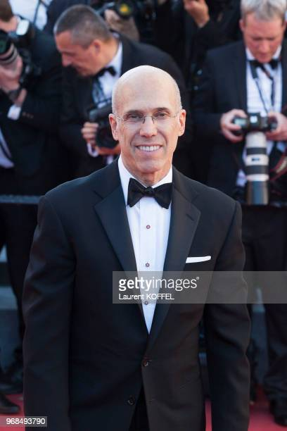 Jeffrey Katzenberg attends the 'Okja' screening during the 70th annual Cannes Film Festival at Palais des Festivals on May 19 2017 in Cannes France