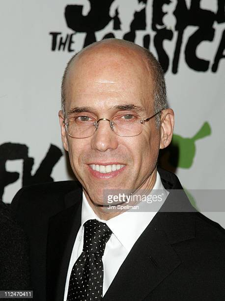 """Jeffrey Katzenberg attends the opening night party for """"Shrek The Musical"""" on Broadway at the Plaza hotel on December 14, 2008 in New York City."""