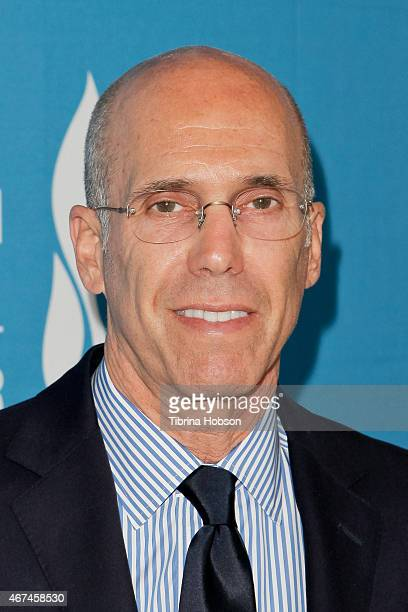 Jeffrey Katzenberg attends the Simon Wiesenthal Center's national tribute dinner at The Beverly Hilton Hotel on March 24 2015 in Beverly Hills...