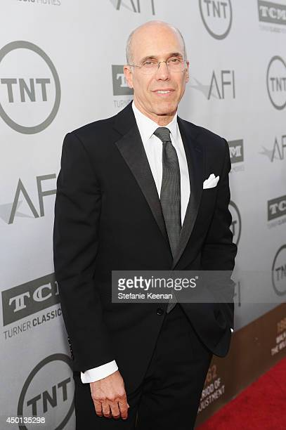 Jeffrey Katzenberg CEO of DreamWorks Animation attends the 2014 AFI Life Achievement Award A Tribute to Jane Fonda at the Dolby Theatre on June 5...