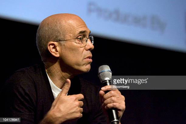 Jeffrey Katzenberg chief executive officer of DreamWorks Animation SKG Inc speaks at the 3D Entertainment Summit in Universal City California US on...