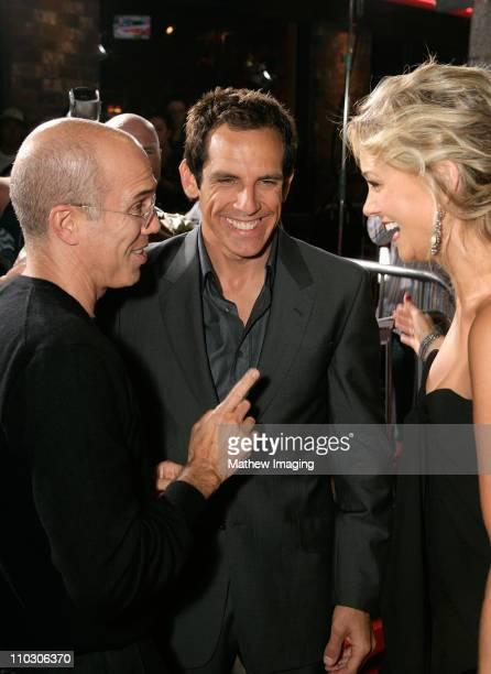 "Jeffrey Katzenberg, Christine Taylor and Ben Stiller at the premiere of ""The Heartbreak Kid"" at Mann's Village Theater on September 27, 2007 in..."