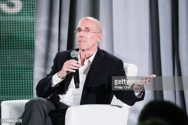 Jeffrey Katzenberg discusses his career at the 40th anniversary Banff World Media Festival Summit Series on June 9 2019 in Banff Canada