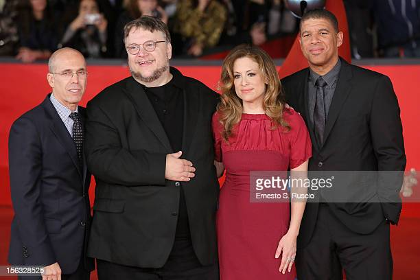 Jeffrey Katzenberg executive producer Guillermo del Toro producer Christina Steinberg and director Peter Ramsey attends 'Rise Of The Guardians'...
