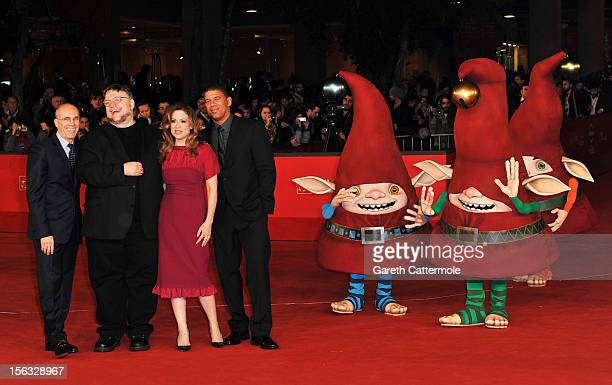 Jeffrey Katzenberg executive producer Guillermo del Toro producer Christina Steinberg and director Peter Ramsey attend 'Rise Of The Guardians'...