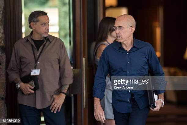 Jeffrey Katzenberg former chief executive officer of DreamWorks Animation arrives on the first day of the annual Allen Company Sun Valley Conference...