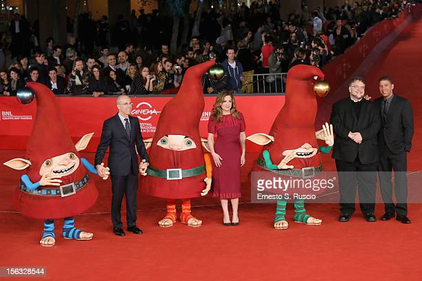Jeffrey Katzenberg producer Christina Steinberg executive producer Guillermo del Toro and director Peter Ramsey attends 'Rise Of The Guardians'...