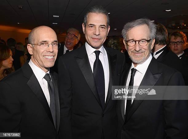 Jeffrey Katzenberg Time Magazine Managing Editor Rick Stengel and Steven Spielberg attend the White House Correspondents' Association Dinner at the...