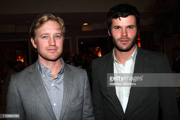 Jeffrey Kohl and Mark Pick attend a Dinner for Thom Browne hosted by Paul Fortune and Barneys New York at The Sunset Tower Hotel on October 17 2007...