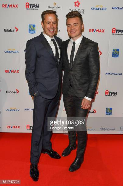 Jeffrey Latimer and Shawn Hook attend 2017 Canada's Walk of Fame at The Liberty Grand on November 15 2017 in Toronto Canada