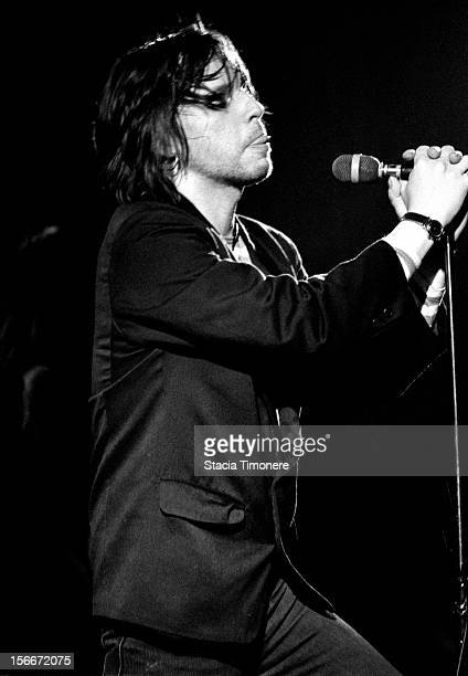 Jeffrey Lee Pierce performs with The Gun Club at Cabaret Metro in Chicago, Illinois, USA on 2nd April 1988.