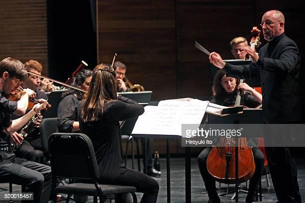 "Jeffrey Milarsky leading Axiom in John Adams's ""Son of Chamber Symphony"" at Peter Jay Sharp Theater at the Juilliard School on Friday night, October..."