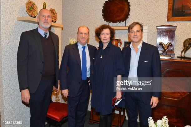 Jeffrey Miller Angus Wilkie Wendy Goodman and Len Morgan attend Wendy Goodman and Zac Posen Host Young Collector's Night at the Winter Show A Benefit...