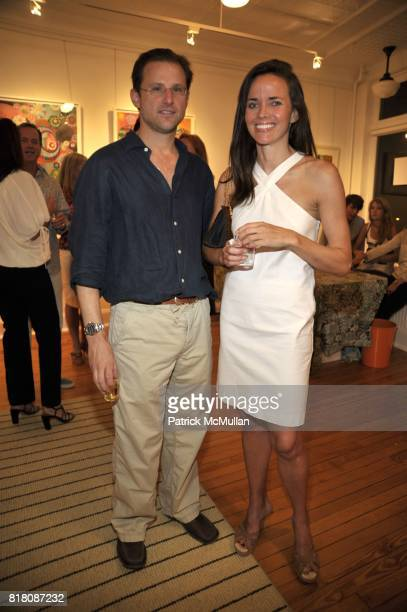 Jeffrey Nordhaus and Justena Kavanagh attend MELINDA HACKETT Art Exhibit at 4 North Main Street Gallery on September 4 2010 in Southampton New York