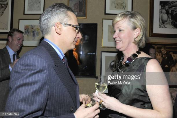 Jeffrey Podolsky and Sara DoddSpickelmier attend ANNE HEARST MCINERNEY JAY MCINERNEY and GEORGE FARIAS Holiday Party at 21 Club on December 16 2010...
