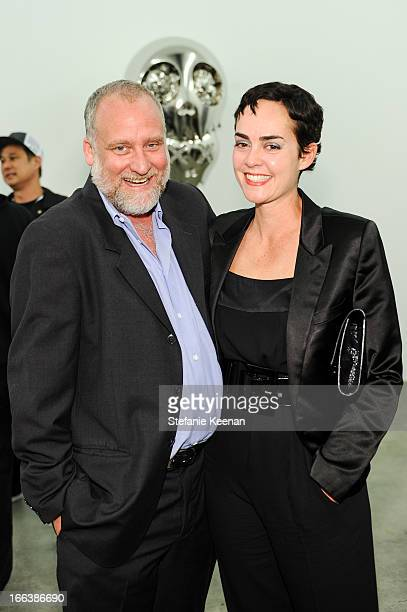 Jeffrey Poe and Rosalie Benitez attend the Takashi Murakami Private Preview at Blum Poe on April 11 2013 in Los Angeles California