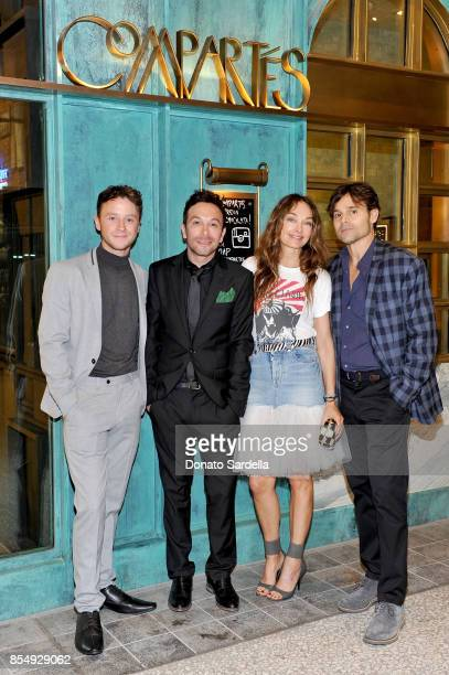 Jeffrey Postlethwaite Jonathan Grahm Kelly Wearstler and Brad Korzen celebrate the Compartes Chocolatier Century City Flagship Store Opening on...