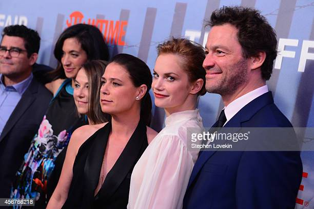 Jeffrey Reiner Sarah Treem Esther Perel Maura Tierney Ruth Wilson and Dominic West attend premiere of SHOWTIME drama The Affair held at North River...