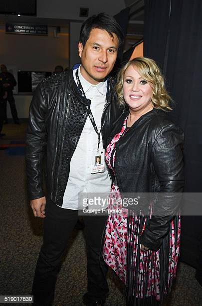 Jeffrey Remedios and Jann Arden attend the 2016 Juno Awards at Scotiabank Saddledome on April 3 2016 in Calgary Canada