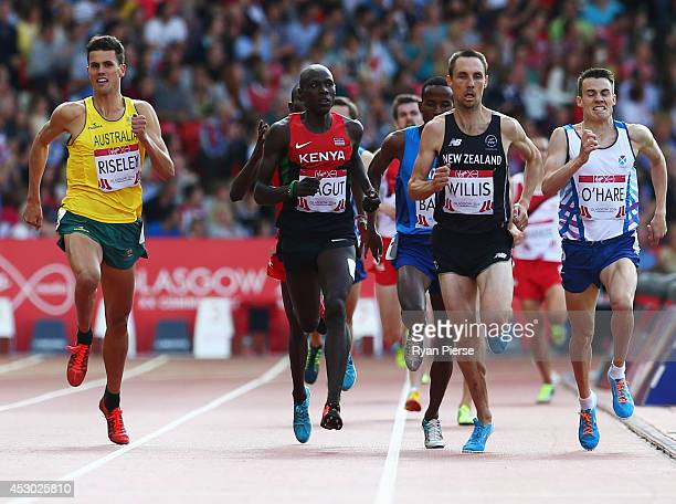 Jeffrey Riseley of Australia, James Kiplagat Magut of Kenya, Nick Willis of New Zealand and Chris O'Hare of Scotland compete in the Men's 1500 metres...