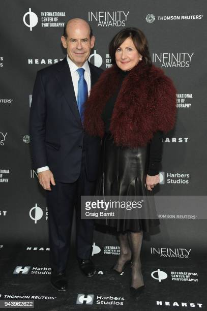 Jeffrey Rosen and Marjorie Rosen attend the International Center Of Photography's 2018 Infinity Awards on April 9 2018 in New York City