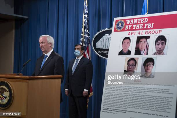 Jeffrey Rosen deputy attorney general speaks during a news conference at the Department of Justice in Washington DC US on Wednesday Sept 16 2020 The...