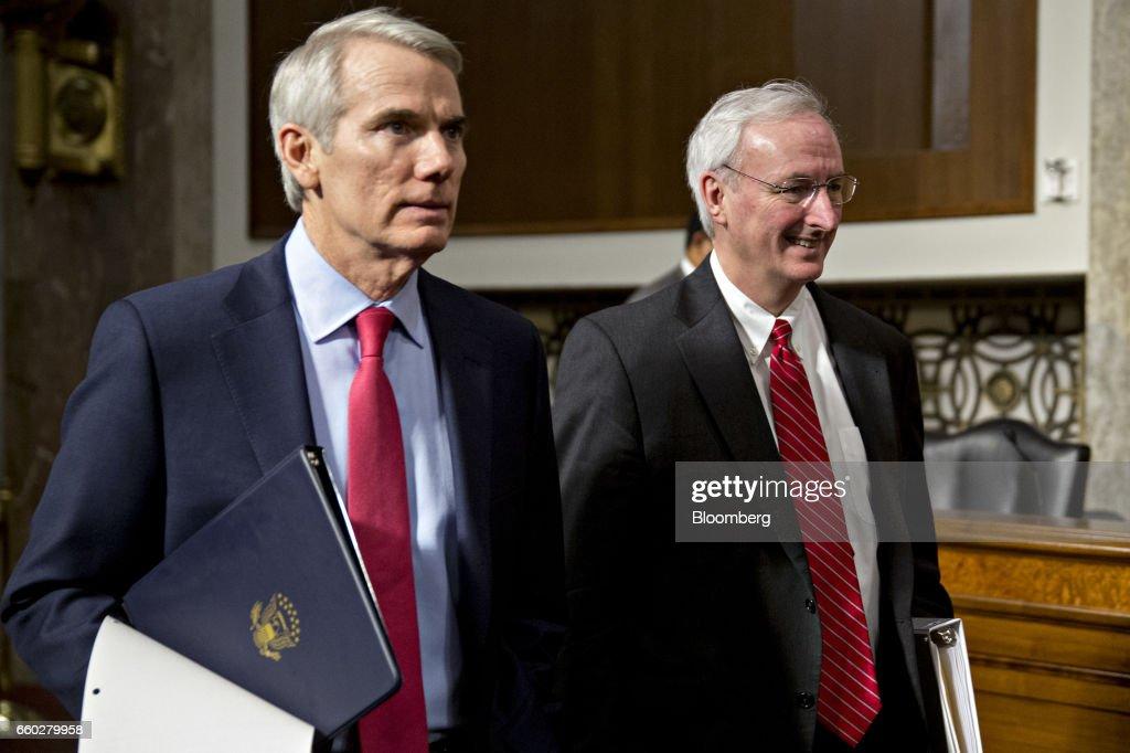 Senate Confirmation Hearing For Nominee Jeffrey Rosen To Be Deputy Transportation Secretary : News Photo