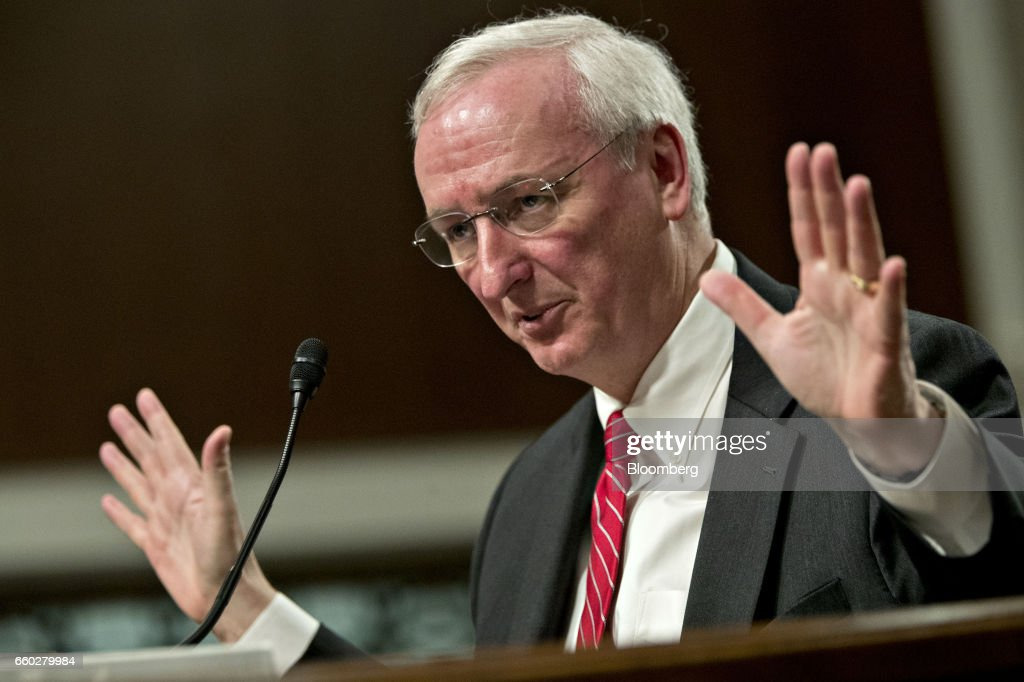 Senate Confirmation Hearing For Nominee Jeffrey Rosen To Be Deputy Transportation Secretary : News Photo