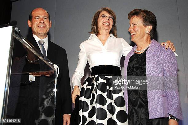 Jeffrey Rosen Diane Keaton and Gayle Greenhill attend INTERNATIONAL CENTER OF PHOTOGRAPHY's 24th Annual INFINITY AWARDS at Pier 60 on May 12 2008 in...