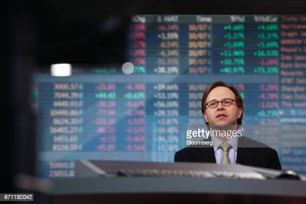 Jeffrey Rosenberg chief fixed income strategist at BlackRock Financial Management Inc speaks during a Bloomberg Television interview in New York US...