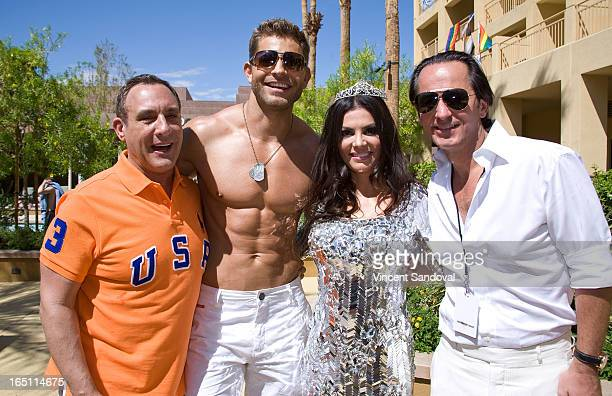 Jeffrey Sanker Jaymes Vaughan TV personality Adriana De Moura and fiance Frederic Marq attend the SPLASH pool party during Jeffrey Sanker Presents...