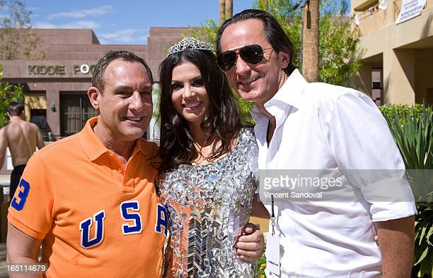 Jeffrey Sanker TV personality Adriana De Moura and fiance Frederic Marq attend the SPLASH pool party during Jeffrey Sanker Presents White Party Palm...