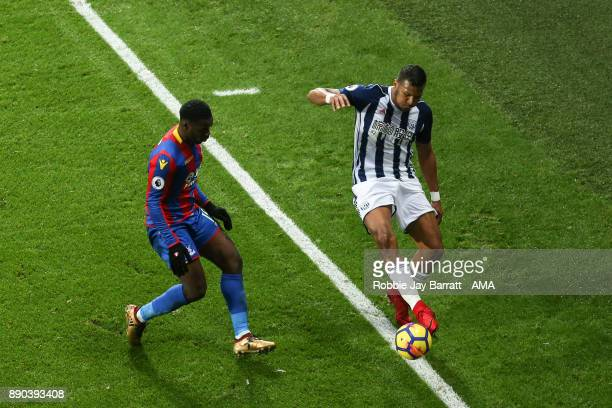 Jeffrey Schlupp of Crystal Palace and Jose Solomon Rondon of West Bromwich Albion during the Premier League match between West Bromwich Albion and...