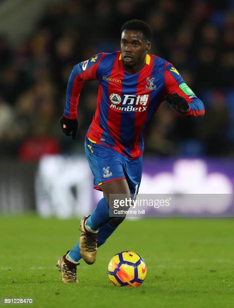 Jeffrey Schlupp of Crystal Palace during the Premier League match between Crystal Palace and Watford at Selhurst Park on December 12 2017 in London...
